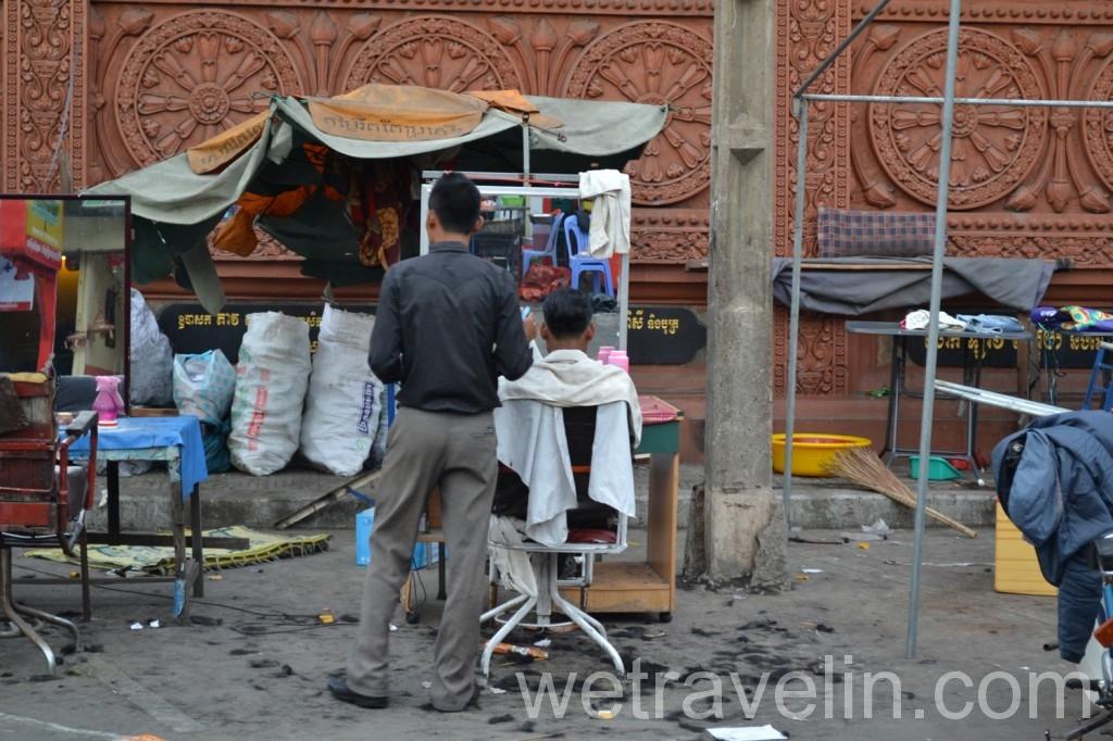 парикмахерская в Камбодже