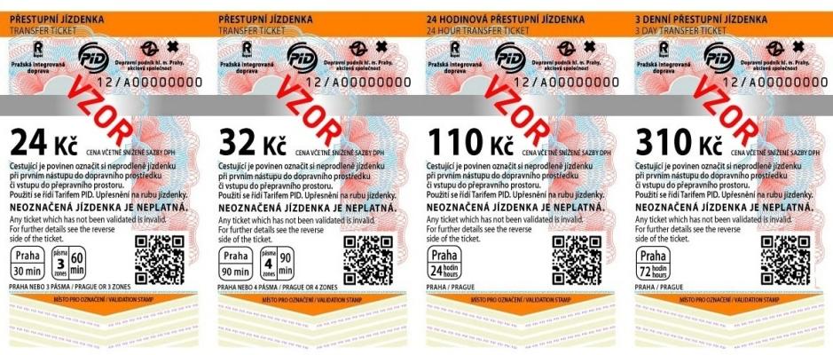 билет на транспорт в Праге