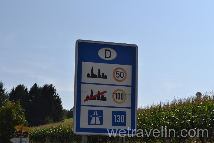 дорожные правила в Германии