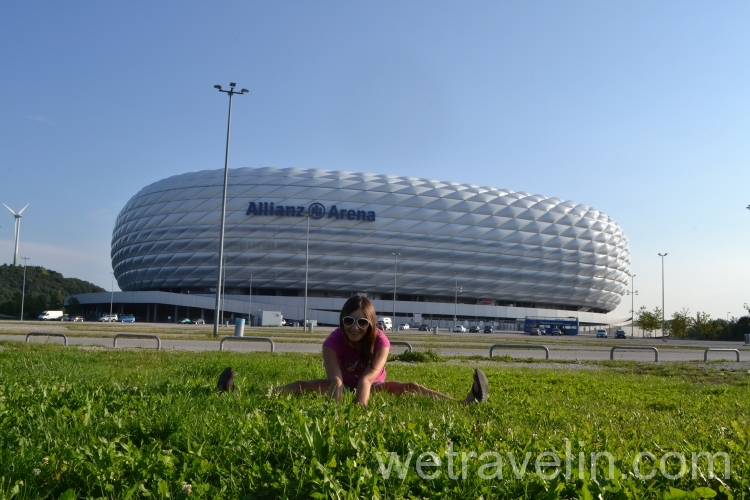 стадион Альянс Арена в Германии
