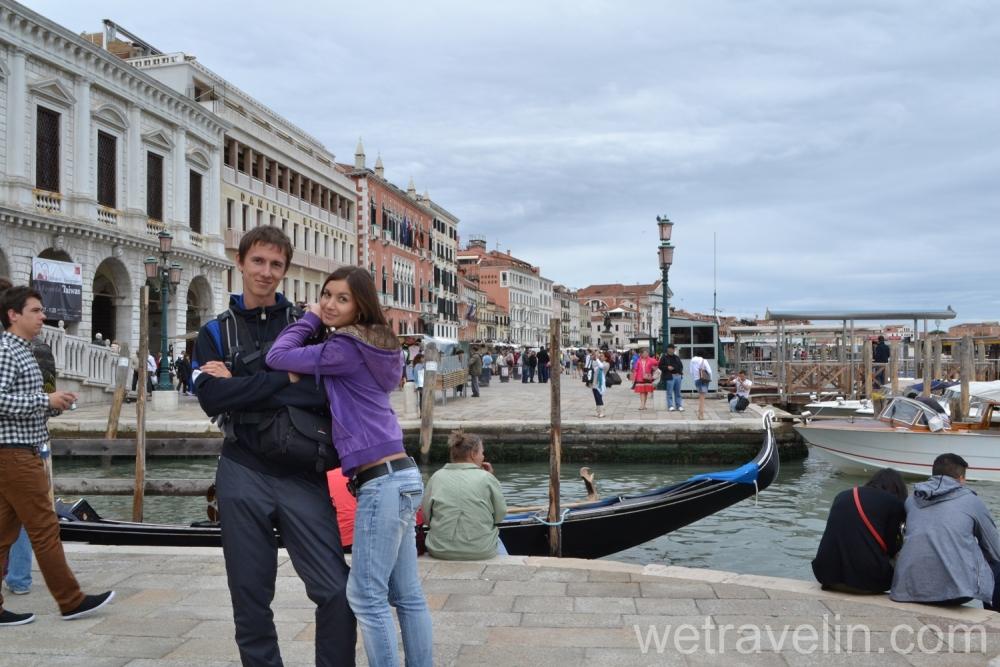 влюбленнаая пара в Венеции