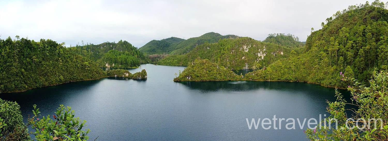 панорама  Lagunas de Montebello