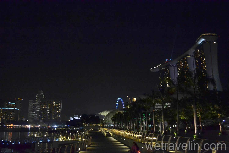 набережная Марина Бэй в Сингапуре